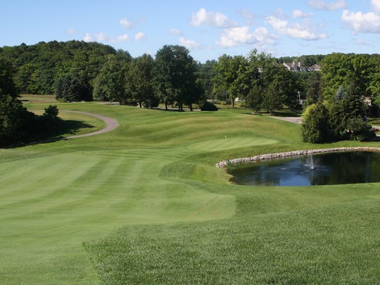 The approach to the green on Hole 16 at Crooked Tree.