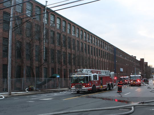 A historic carpet factory in Yonkers was damaged by