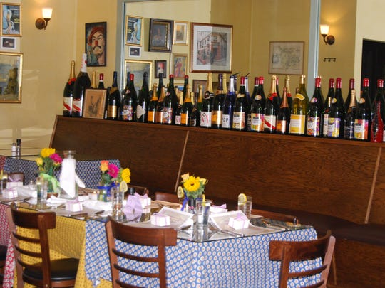 Sophie's Bistro is modeled after a French country bistro.