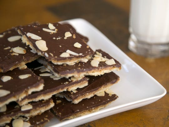Chocolate toffee cookies at Robin Miller's home in