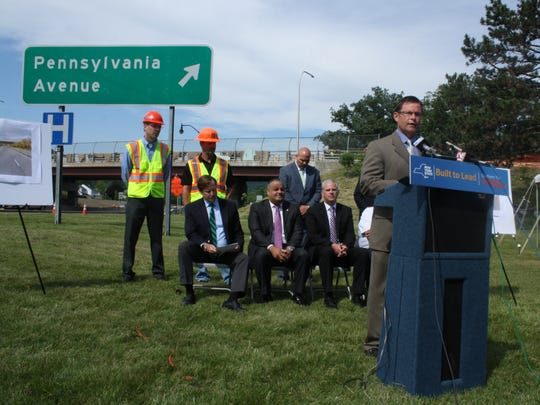 Jack Williams, the regional director for the New York State Department of Transportation for Region Nine,announces the progress of the state Route 434 Greenway.
