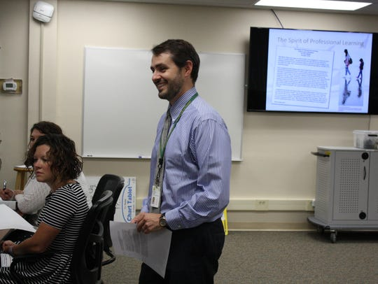 Patrick Clarke, a coordinator for instruction at the
