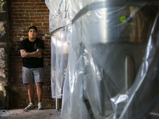 Stitch House Brewery owner Dan Sheridan will soon open his brewery on North Market Street in Wilmington.
