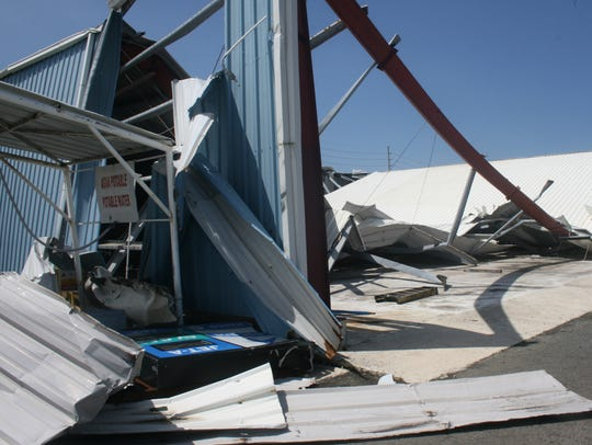 Hurricane Maria's damage at the Aguadilla Airport in