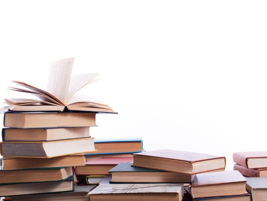 Stack of books on white background. Education concept. Back to