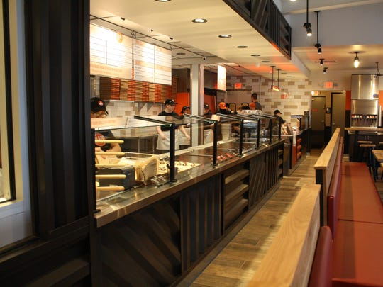 Blaze Pizza, located in Vestal, offers customized, made-to-order pizzas for about $8 each. The restaurant will officially open for the public on Thursday.