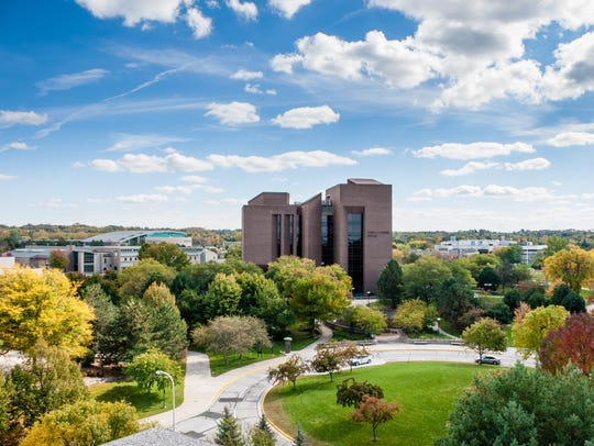 The David A. Cofrin Library on the University of Wisconsin-Green