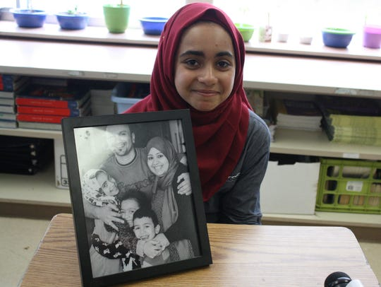 Along with her family, Tiba Al-Sultani, a fifth grade