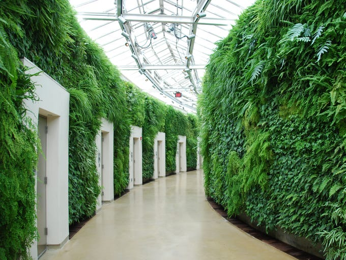 The public restrooms at Philadelphia's Longwood Gardens