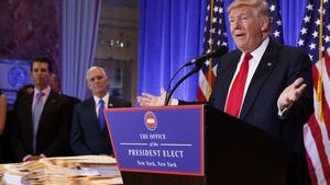 In his first press conference as president-elect, Donald Trump said Obamacare would be repealed and replaced almost simultaneously.