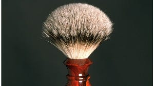 This rosewood shaving brush by Doug Scharf, Hopewell Junction, is among his works on display at the Woodstock-New Paltz Art & Crafts Fair, May 27-29.
