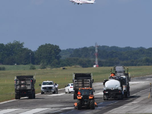 Anderson airport asphalt