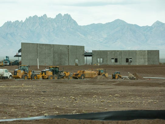 Construction of a new First Baptist Church continues