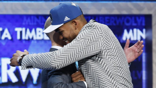 The Minnesota Timberwolves selected Karl-Anthony Towns with the No. 1 pick. He was Kentucky's third No. 1 in the past six years.