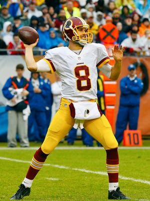 Washington quarterback Kirk Cousins leads the NFL with a 69.2 completion percentage.
