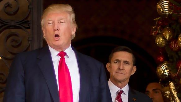 President Trump and Michael Flynn, former national
