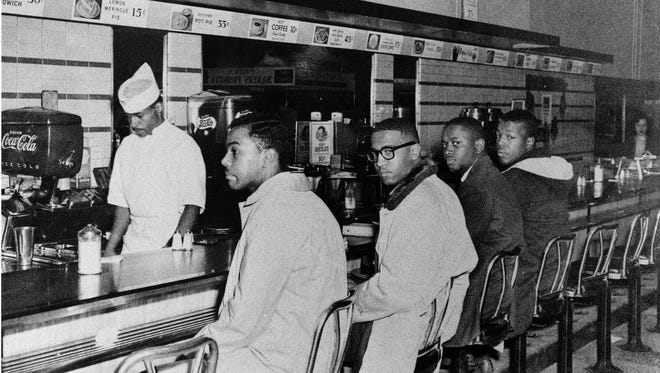 At Woolworth's lunch counter in Greensboro, N.C., in 1960.