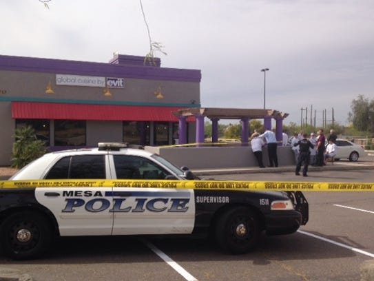 Mesa police on the scene at East Valley Institute of