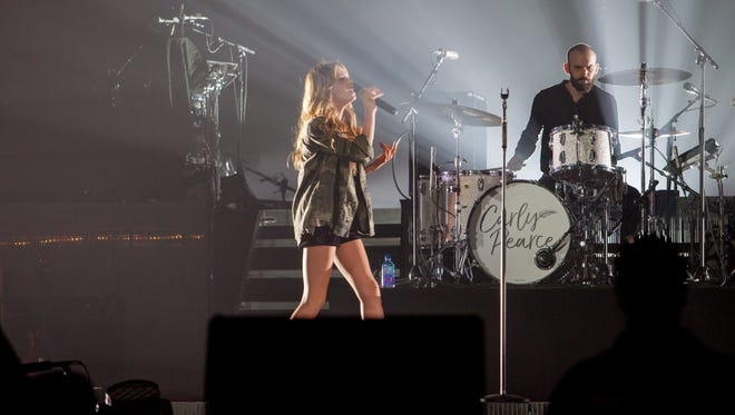 Carly Pearce opens the Blake Shelton Country Music Freaks Tour at the Pan American Center Saturday night in Las Cruces on Feb. 17, 2018.