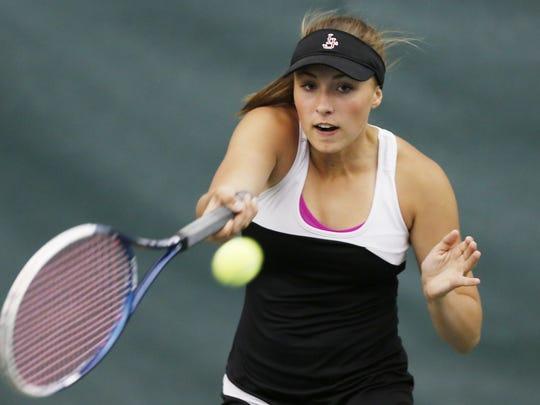 Junior Samantha Preston plays No. 1 singles for a Lafayette