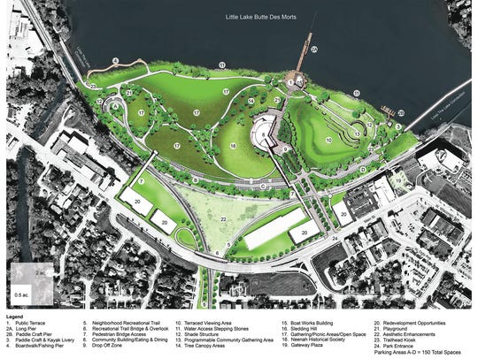 The master plan for Arrowhead Park shows a large community