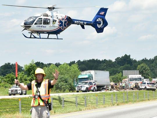A crash involving  a tractor-trailer and a passenger
