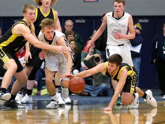 Waupun High School boys basketball's Marcus Domask