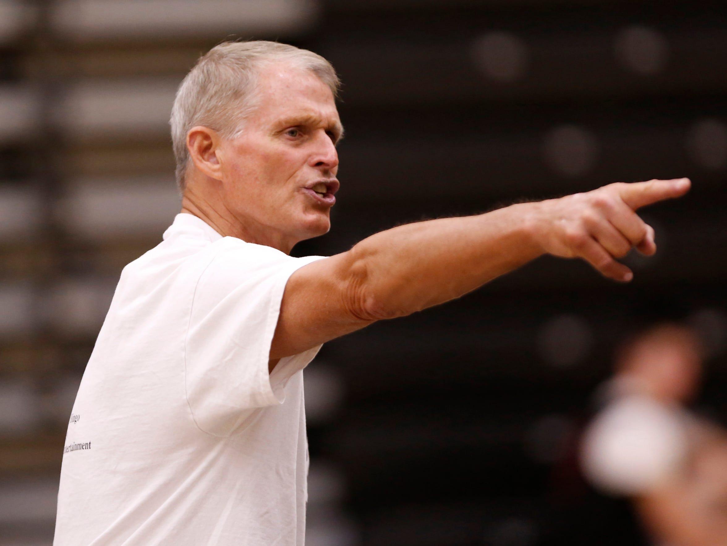 New Lafayette Jeff head coach Mark Barnhizer shouts