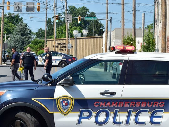 Chambersburg police  investigate a shooting in July on South Franklin Street between Burkhart Avenue and Lincoln Way West.