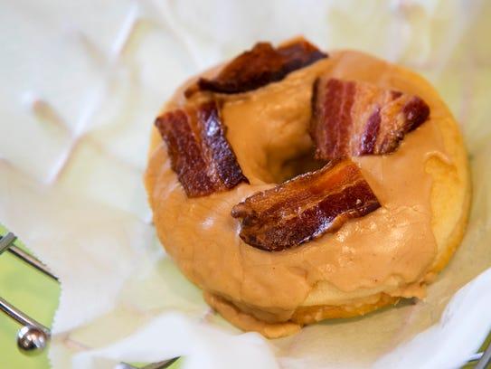 Bennett's maple-bacon doughnut.