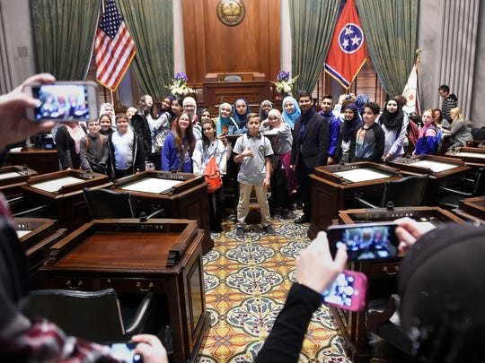 Muslim students from Annoor Academy in Knoxville pose