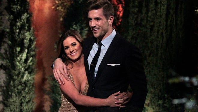 "JoJo Fletcher and Jordan Rodgers get cozy in the first episode of ""The Bachelorette."""
