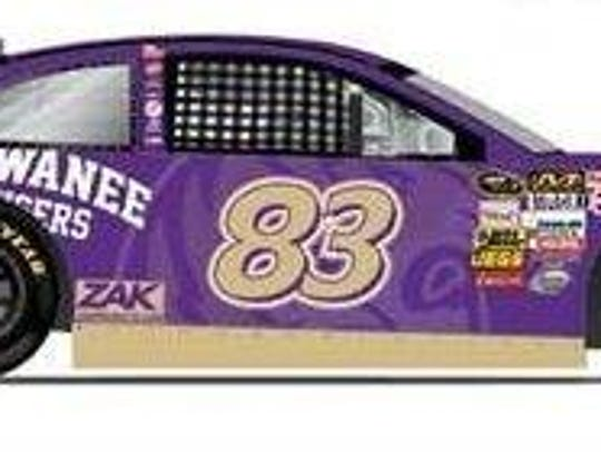 Sewanee will sponsor a car in the  Sprint Cup Series