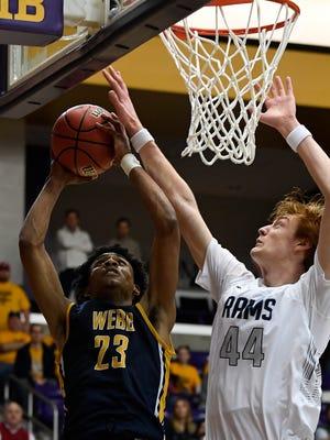 Webb School sophomore forward Keon Johnson (23)