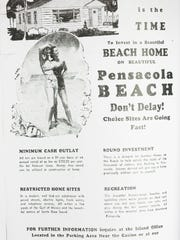 "Vintage Pensacola Beach Property Ads from the book ""Deceit Beach The True Story of Deception by Escambia County and their Agent, the Santa Rosa Island Authority, and how the Florida Supreme Court failed the protect the victims,"" by William L. Post."