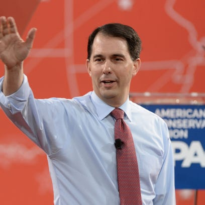 Wisconsin Gov. Scott Walker speaks at the Conservative