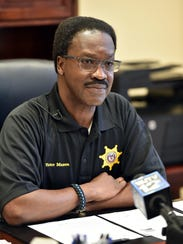 Hinds County Sheriff Victor Mason from his office in