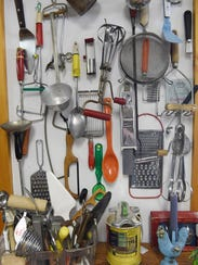 A view of various kitchen items for sale at Pass It