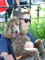 Milford resident Connor Meadows and his dog, Charley,