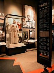 An exhibit at the Mississippi Civil Rights Museum includes
