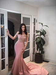 A Glaudi couture gown designed by Johana Hernandez