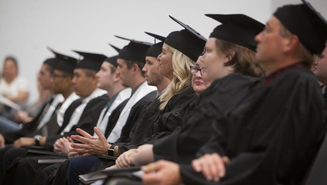 Dixie Technical College held two ceremonies May 16, 2018: one for industry graduates and and one for health-care science graduates.