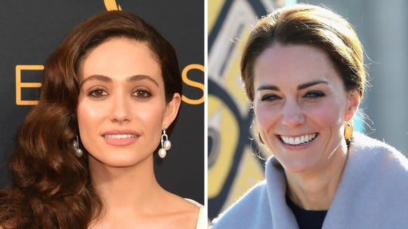 Emmy Rossum Duchess Kate Are Twinning In That Gorgeous Red Preen Gown