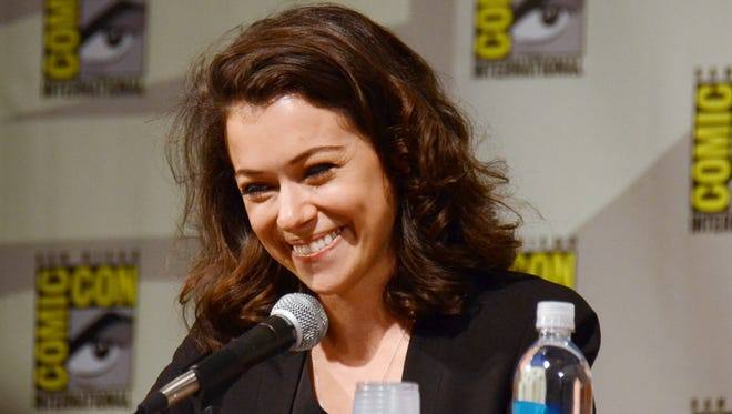 "Tatiana Maslany attends the ""Orphan Black"" panel on Day 2 of Comic-Con International on Friday, July 25, 2014, in San Diego."