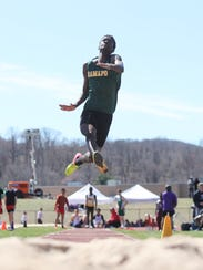 Ramapo's Jackson Marescot competes in the long jump