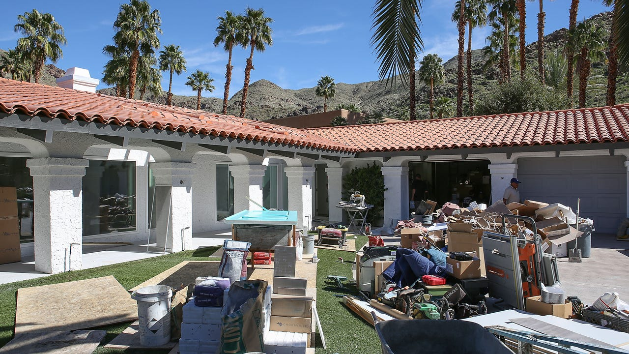 Designers redo home for Christopher Kennedy Compound show house part of Modernism Week 2017.