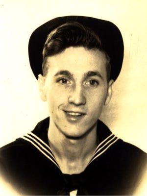 An old, undated photo of Joseph Vogel, a World War II Navy veteran residing in Tallahassee.
