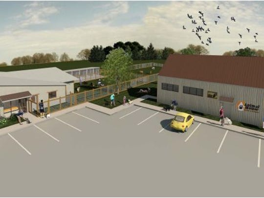 A rendering of Animal House Rescue and Grooming's new facility at 2200 Taft Hill Road.