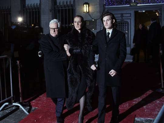 Celine Dion and her son Rene-Charles Angelil (R) after