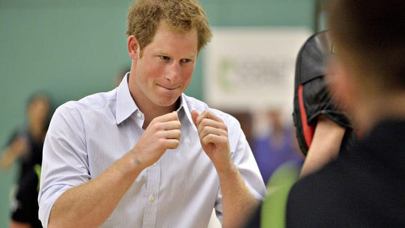 Prince Harry boxing